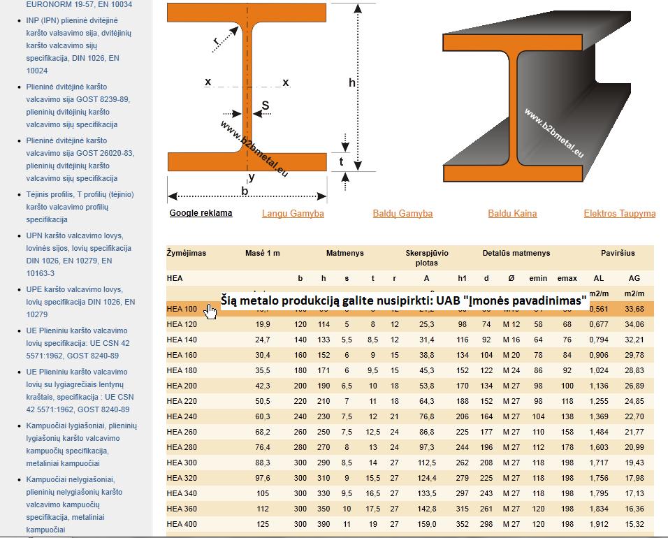 Reklama portale www.metalurgija.lt